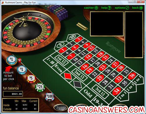 Online Roulette Tisch